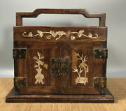 11.2'' Chinese Antique Wood Box Natural Old Rosewood Box Jewelry Box Shell