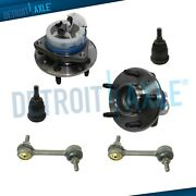 Rear Wheel Hubs Lower Ball Joint Sway Bar For 2002-2007 Buick Rendezvous Fwd Abs