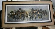 Ohaly Shaul -oil On Canvas One Of The Best Of Him That I Have Seen 71.5x 26cmm