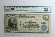 1902 The Blue Ball Pa 20 National Bank Note Pmg Vf25 Plain Back Ch 8421