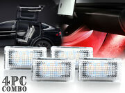 4pcs For 2016-19 Tesla Model X Bright Red Led Footwell Trunk Car Interior Lights