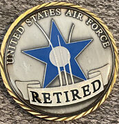 Us Air Force Usaf Retired Challenge Coin Medallion Cobm-88