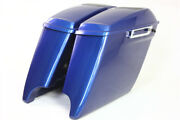 Superior Blue 2014-2020 Harley 4.5 Abs Saddlebags 69 Speaker Lids With Latch