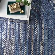 Capel Rugs Habitat Soft Chenille Polyester Braided Oval Rug Moody Blue Gray 450