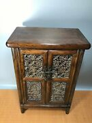 24and039and039 Chinese Antique Wood Cabinet Natural Yellow Rosewood Cabinet