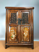 24and039and039 Chinese Antique Wood Cabinet Natural Yellow Rosewood Cabinet Shell