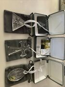 Set Of 3 Waterford Crystal Christmas Ornaments .