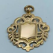 Antique 9ct 375 Old Yellow Gold Rose Hue Double Sided Shield Watch Fob L335