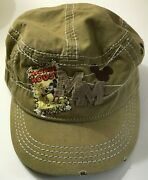 Mickey Mouse Steamboat Willie Distressed Flat Adjustable Cap Hat Disney Parks