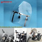 1and039and039 And 7/8and039and039 Handlebar Windshield Winscreen Wind Deflector For Honda Yamaha Clear