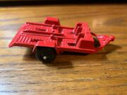 Vintage Tootsie Toy Red Cycle Trailer Motorcycle Trailer Usa Diecast