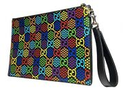 Gg Psychedelic Pouch 601087 Clutch Bag Rainbow 20-8074rs.