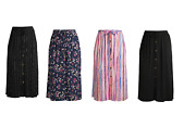 New Womens Terra And Sky Front Button Maxi Skirt Plus Sizes Cute