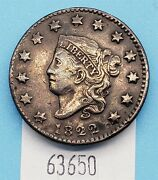Wpcoins 1822 Large Cent N.11 R-3 Xf