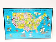 Vintage Peanuts And Snoopy Rare Commemorative Metlife Usa Map Puzzle Sealed