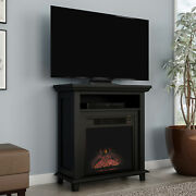 Copper Grove Siavonga Electric Fireplace Tv Stand With Faux Logs And Led Flames