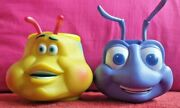 Pair Vintage Disney Pixar A Bugand039s Life Baby Drinking Cups Flik And Heimlich