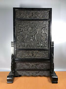 31.2and039and039 Chinese Antique Wood Screen Natural Red Sandalwood Screen Dragon