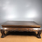 29and039and039 Chinese Antique Wood Table Natural Yellow Rosewood Wood Small Table