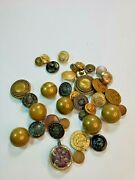 Lot Of 25+ Vintage Mix Button Sets And Pairs Anchor Navy Classic Buttons Antique