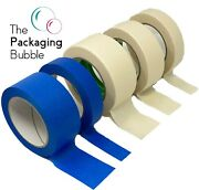 Professional Masking Tape Roll 50m 50/25/38mm Painting Automotive Auto Car Blue