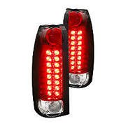 88-98 Chevy Red/chrome Led Taillights