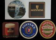 Lot Of 5 New Beer Coasters From Ireland- Guinness, Smithwicks, Others