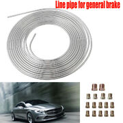 Galvanized Iron Brake Line Kit 3/16 25 Foot Coil Roll All Size Fittings Durable