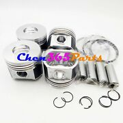 New Std 4 Pcs Piston Kit And Ring Set 11-8948 For Yanmar 486e Thermo King Engine