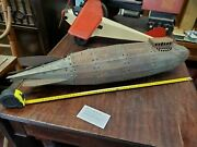 1920and039s Metalcraft Rare Zepplein Airship Dirigible Goodyear Blimp Led Erector Toy