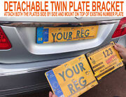 Detachable Twin Plate Bracket Removable Taxi Private Hire Chauffeur Cars