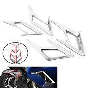 4x Motocycle Front And Rear Fender Vent Trim Kit For Honda Gl1800 2018