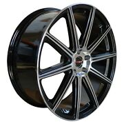 4 G42 20 Inch Black Rims Fits Chevy S10 4wd 2000 - 2003