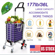 Winice Folding Shopping Cart Basket Grocery Laundry Travel W/ 6/8 Stair H M 17
