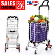 Winice Folding Shopping Cart Basket Grocery Laundry Travel W/ 6/8 Stair H M 18