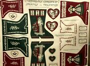 Victorian Christmas Stockings And Ornaments Fabric Panel Spring Industries