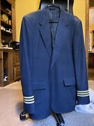 Airline Pilot Uniform Menand039s Jacket Wing Buttons Aviation Crew Usa Vtg 80and039s