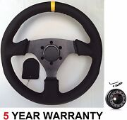 Genuine Leather Race Drift Racing Rally Steering Wheel And Boss Kit For Renault