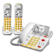 Uniden D3098-2 Two Handset Corded/cordless Amplified Phone W/ Big Keypad Buttons