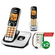 Uniden D1760-2 With Additional Battery Dect 6.0 Cordless Phone W/ 1 Extra