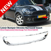 Frame Lower Bumper Front Trim Finisher For Mini Cooper 11-15 With Chrome Package
