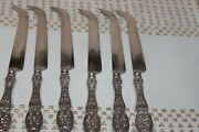 Antique Sterling Handled Cheese Knife Greenleaf And Crosby Florida .1900 Set Of 6