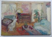 Antique Oil French Impressionism Painting Living Room Charles Camoin
