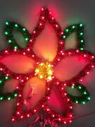 Led C7 Lights Large Poinsettia Holiday Christmas Indoor/outdoor Christmas