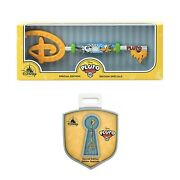 Disney Key And Pin Bundle Pluto 90th Anniversary New