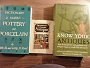 Lot Of 3 Antique Collecting Books Pottery Porcelain Marks American Guide Nice