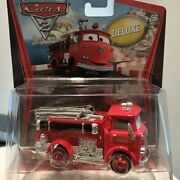 Disney Pixar Cars - Red - Firetruck - Deluxe Cars Official Diecast