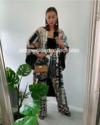 Zara New Woman Long Belted Patchwork Kimono - Limited Edition Xs-xl 2866/128 Nwt