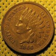 1866 Indian Head Cent. S-1 Misplaced Date/doubled Die Obverse Variety