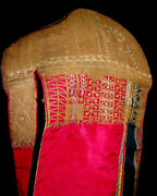 Rare Antique Central Asian Gold Embroidery Girls Headdress